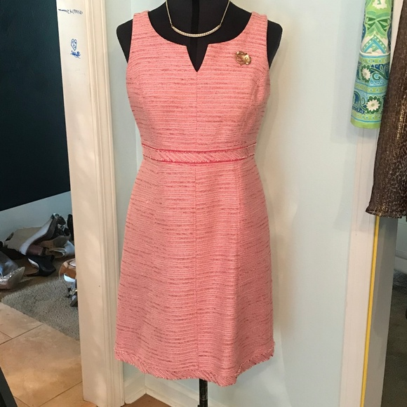 White House Black Market Dresses & Skirts - Pink Tweed Dress Size 2 White House Black Market